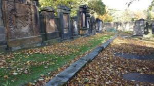 One of the many graveyard in Edinburgh