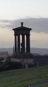 Dugald Stewart Monument. This monument commemorates the Scottish philosopher and professor at the University of Edinburgh (1753–1828)
