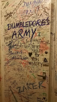 Every centimeter is covered in notes, pictures, and messages to JK Rowling
