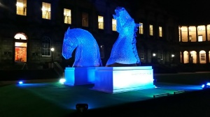 Mini Kelpies at Night