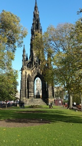 Scott Monument. On my last day I climbed all 287 steps in the claustrophobically narrow staircase to the top